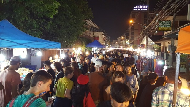 famous Saturday Night, a lively and fun night market that takes place in Chiang Mai every Saturday. It is along Wui Lai Road, just a short walk from the southern gate of the old city walls.
