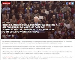 20160508_1700 Bernie Sanders Desperately Seeking Strong Finish for Superdelegates (inquisitr).jpg