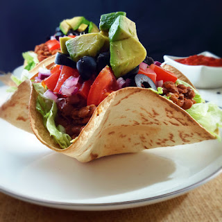 Taco Salad with Lentils.