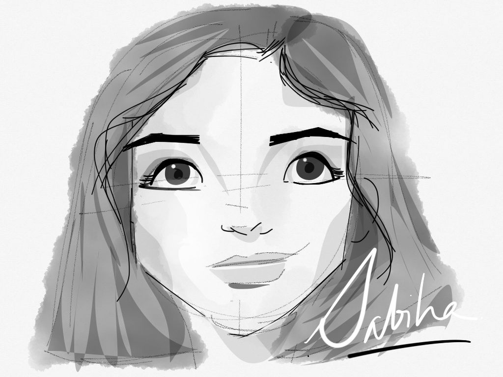 My sister-Sabiha made with Sketches