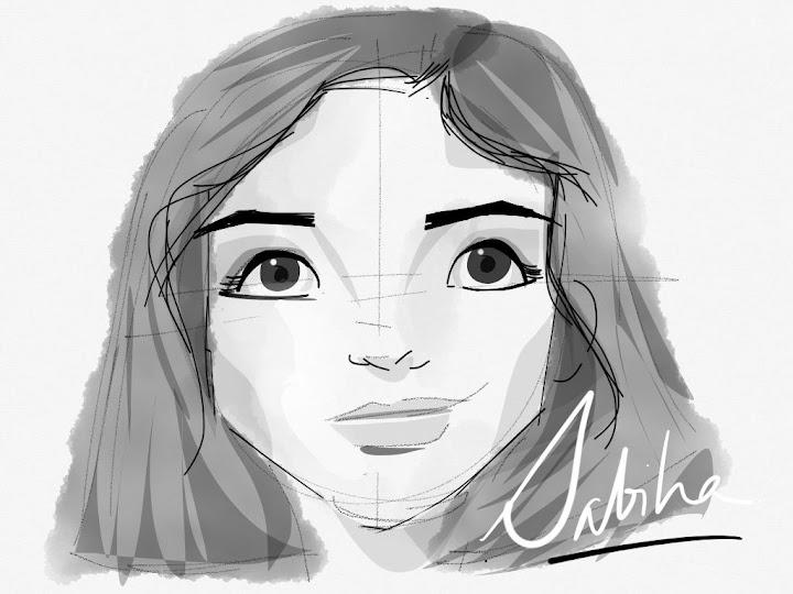 My sister-Sabiha made with Sketches