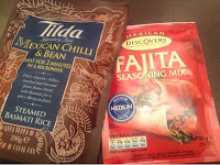 tilda mexican chilli and bean rice and fajita seasoning mix