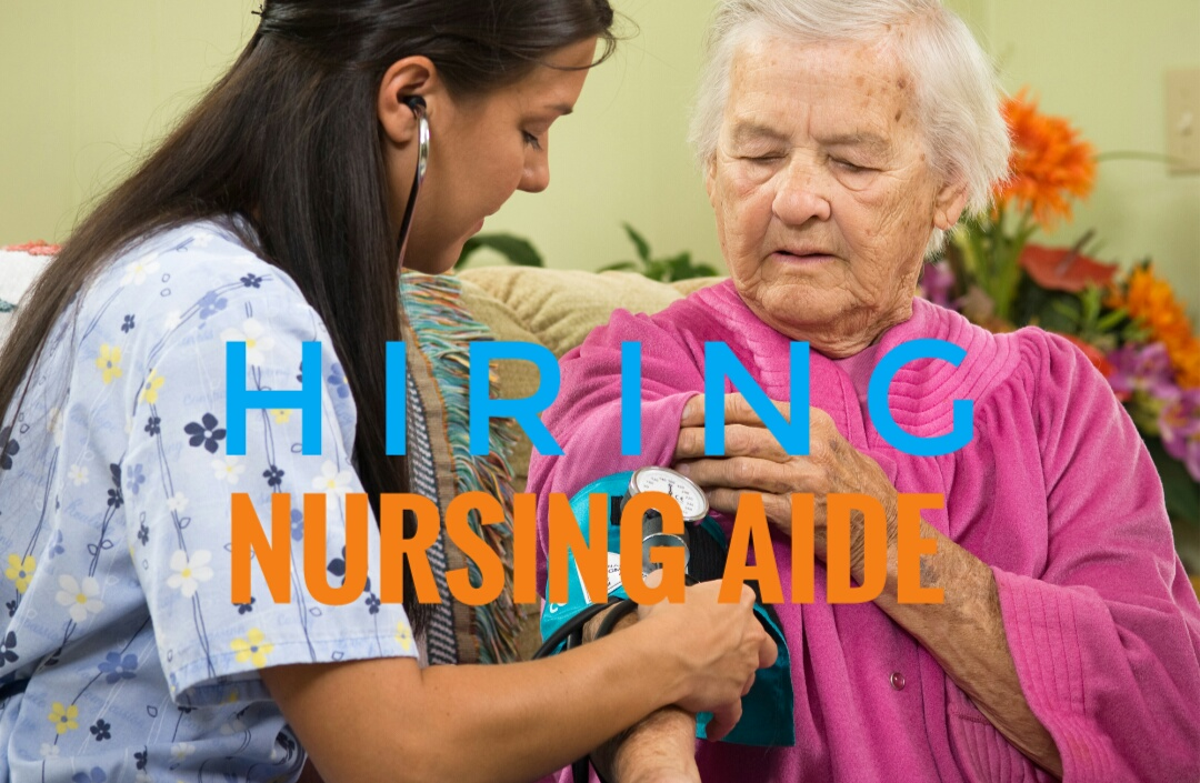 Hiring: Nursing Aide For Chen Hsin Garden Nursing Home