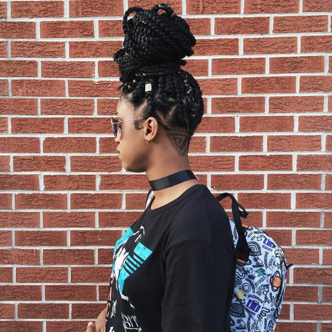 Really Cute Box Braid Hairstyles with 70 Pics