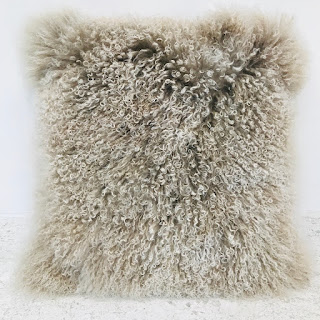 Chesterfield Tibetan Lamb Pillow #1