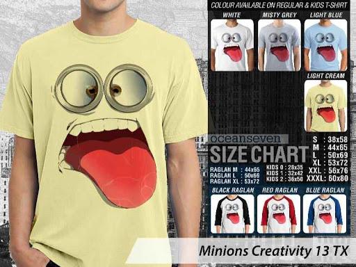 Kaos Kartun Minions Creativity 13 distro ocean seven
