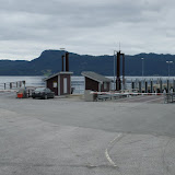 Opgang naar de veerboot bij Halsafjorden.