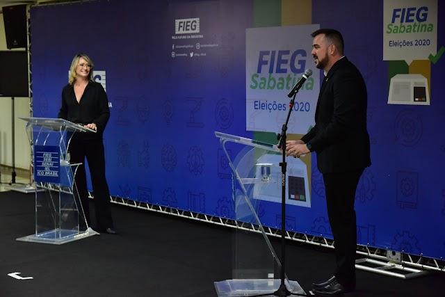 Goiás: Em sabatina da Fieg, Gustavo propõe criação de novo polo industrial em Aparecida