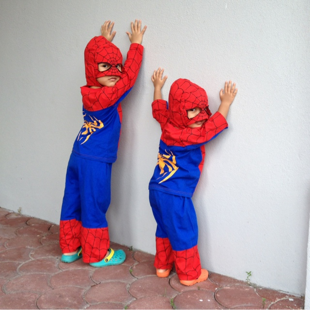 spider-girl and spider-boy | spiderman in the house