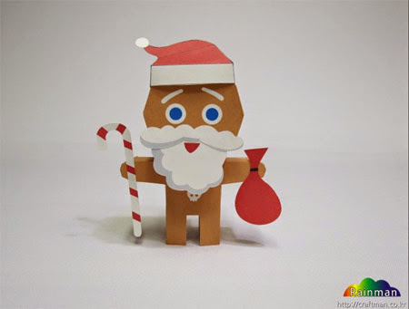 Santa Claus Cookie Papercraft