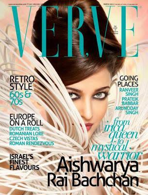 Aishwarya rai on Verve Magazine Cover - March 2011
