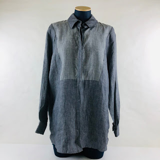 *SALE* Atea Oceanie Denim Linen Blouse