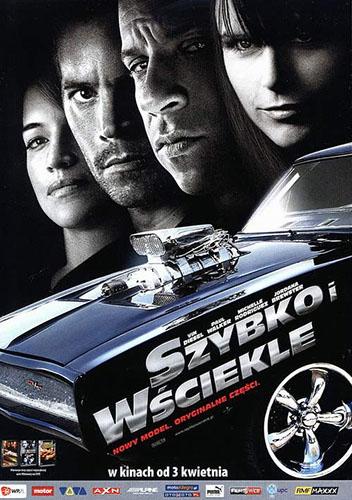Polski plakat filmu 'Szybko i Wściekle'