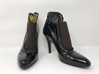 Te Casan Patent Leather Booties
