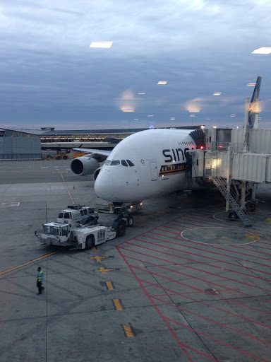 Boarding Singapore Airlines in New York