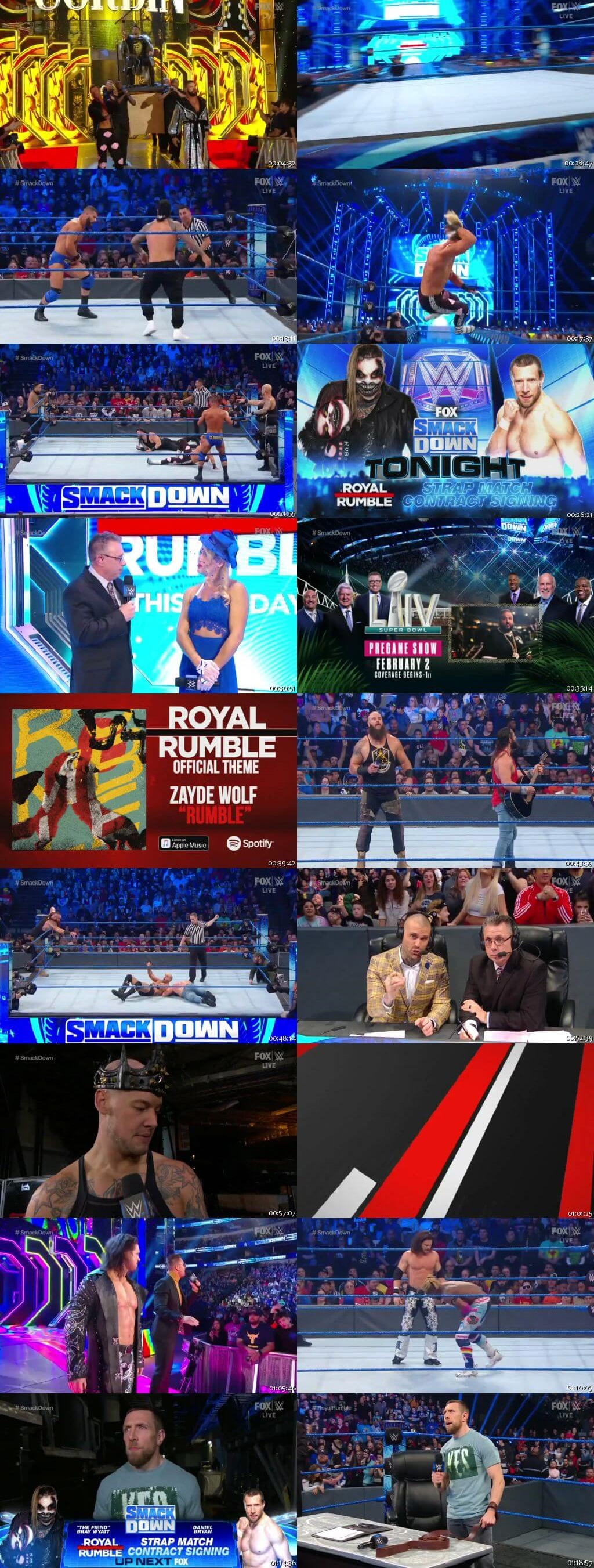 Screen Shot Of WWE SmackDown Live 24th January 2020 HDTV 480P 300MB