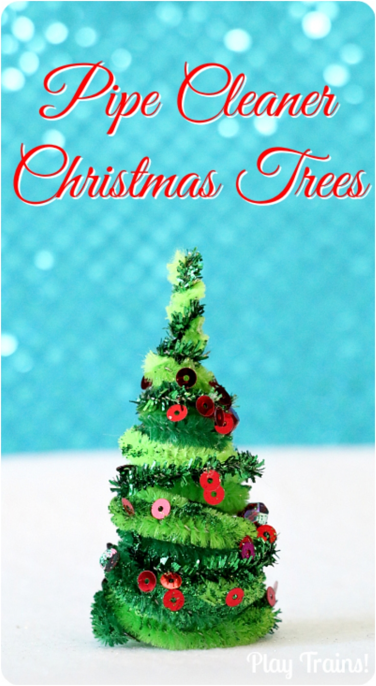 DIY Pipe Cleaner Trees Christmas
