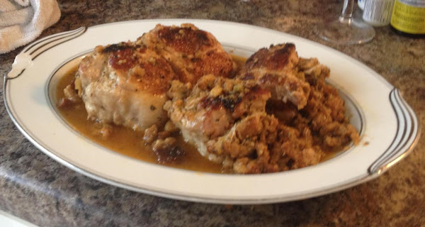 Pork Chops With Herb Stuffing Recipe