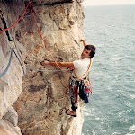 1987.05 Swanage Nigel Coe   1st ascent Mayhem on the Terraces E3.jpg