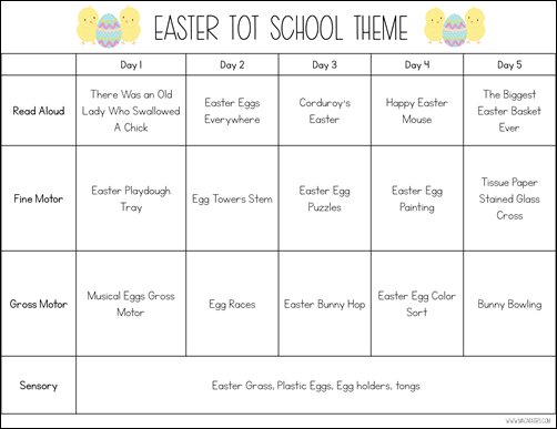 Easter Tot School Theme