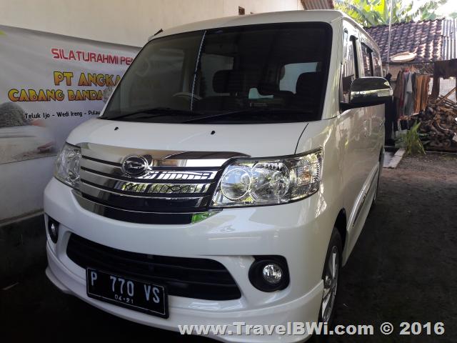 Luxio Tipe X 2016 Front - Travel BWi Banyuwangi - Rental Mobil