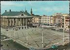 Groningen.  Grote markt met Stadhuis met rechts Amsterdamsche Bank.  Gelopen gestempeld in ?.