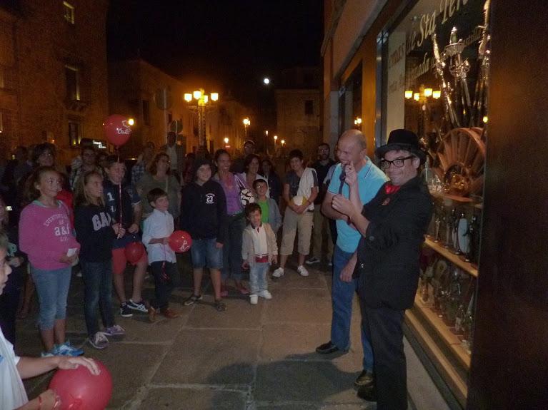 Espectáculo de magia en las calles de Ávila