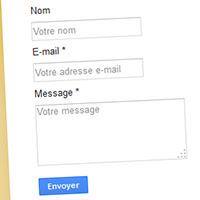 Personnaliser le formulaire de contact Blogger