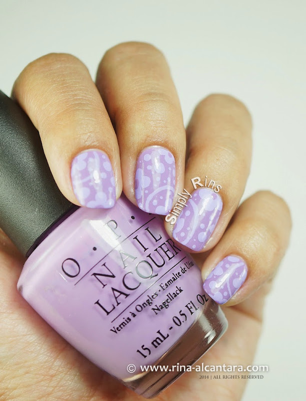 Can't Get Enough of Lavender Nail Art on OPI Do You Lilac It?