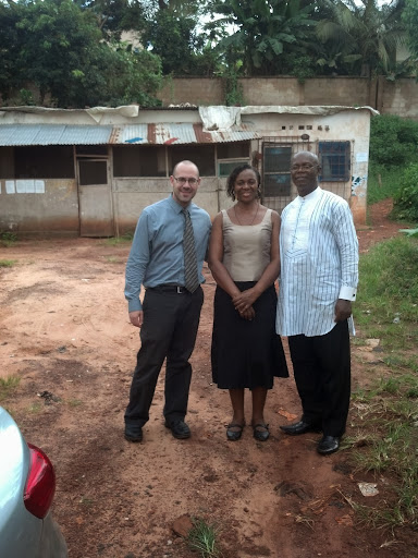 Dr. Michael Bitz with friends in Nigeria