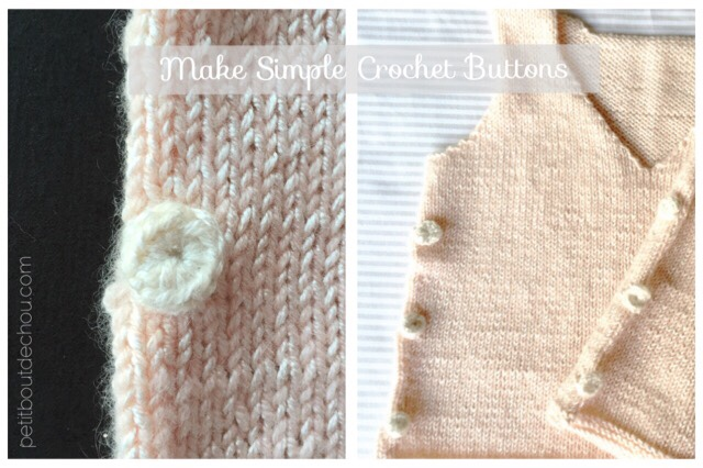 simple easy crochet buttons