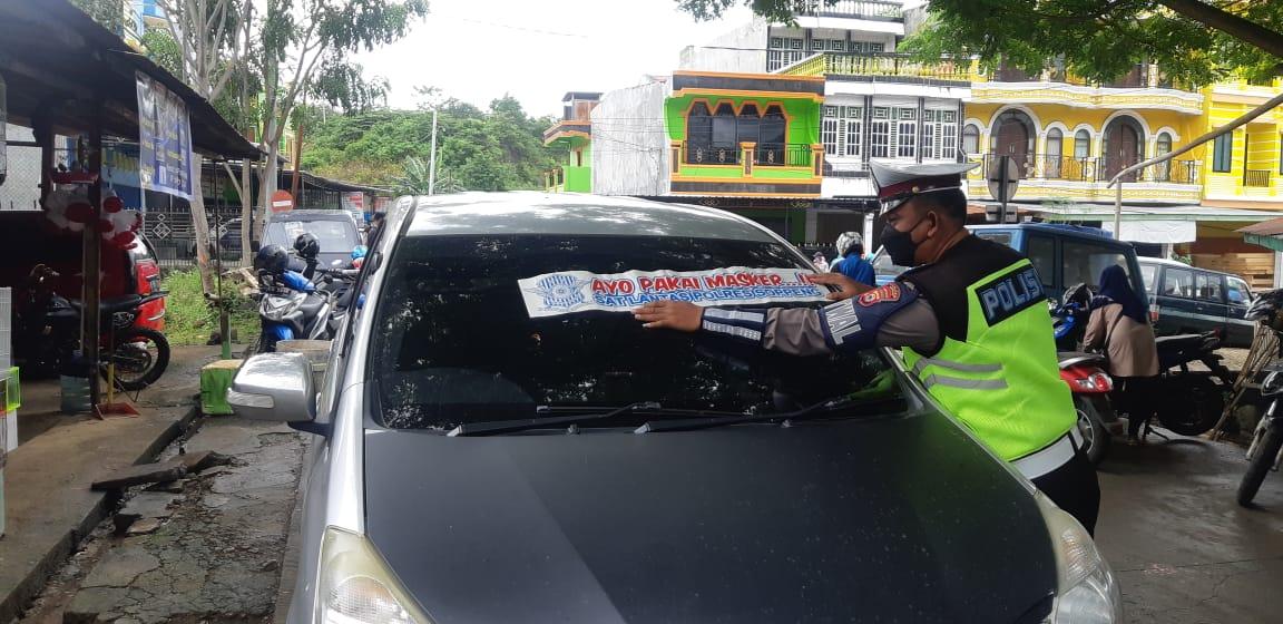 Ayo Pakai Masker, Polres Soppeng Galakkan Sosialisasi Protokol Kesehatan Cegah Covid19