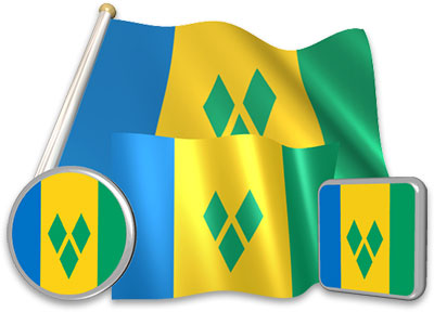 Saint-Vincentian, Vincentian flag animated gif collection
