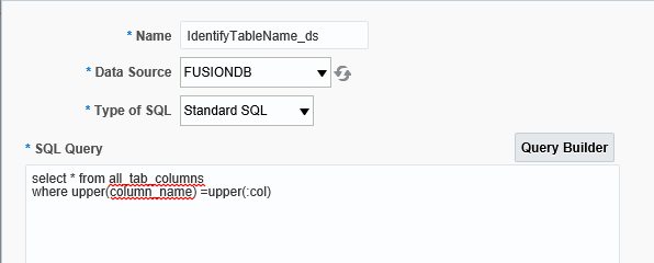 Identifying Table Name In Oracle ERP Cloud Application