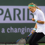 INDIAN WELLS, UNITED STATES - MARCH 18 : Victoria Azarenka in action at the 2016 BNP Paribas Open