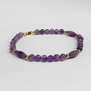 14K Gold and Amethyst Bracelet