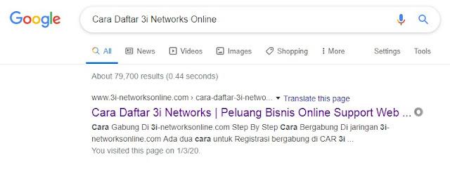 Cara Daftar 3i Networks Online