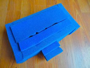 Photo: 2-part DIY foam insert