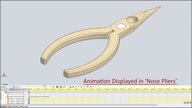 Animation displayed in Nose Pliers