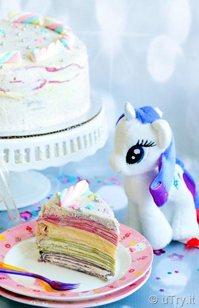 Unicorn Rainbow Mille Crêpe Cake 獨角獸彩虹法式薄餅千層蛋糕  http://YouTube.uTry.it