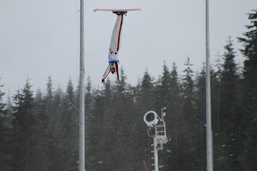 Canadian Kyle Nissen in a practice jump