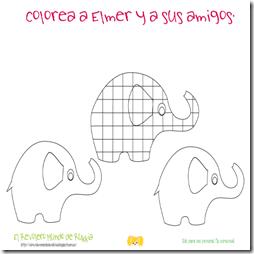 Elmer. Colorear 2