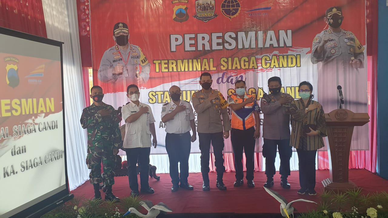 Polres Klaten Resmikan Stasiun dan Terminal Siaga Candi di Stasiun dan Terminal Ir. Soekarno
