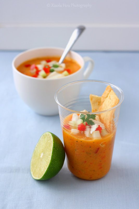 Bittersweets: The Only Soup I Need This Summer (Mango Crab Gazpacho)