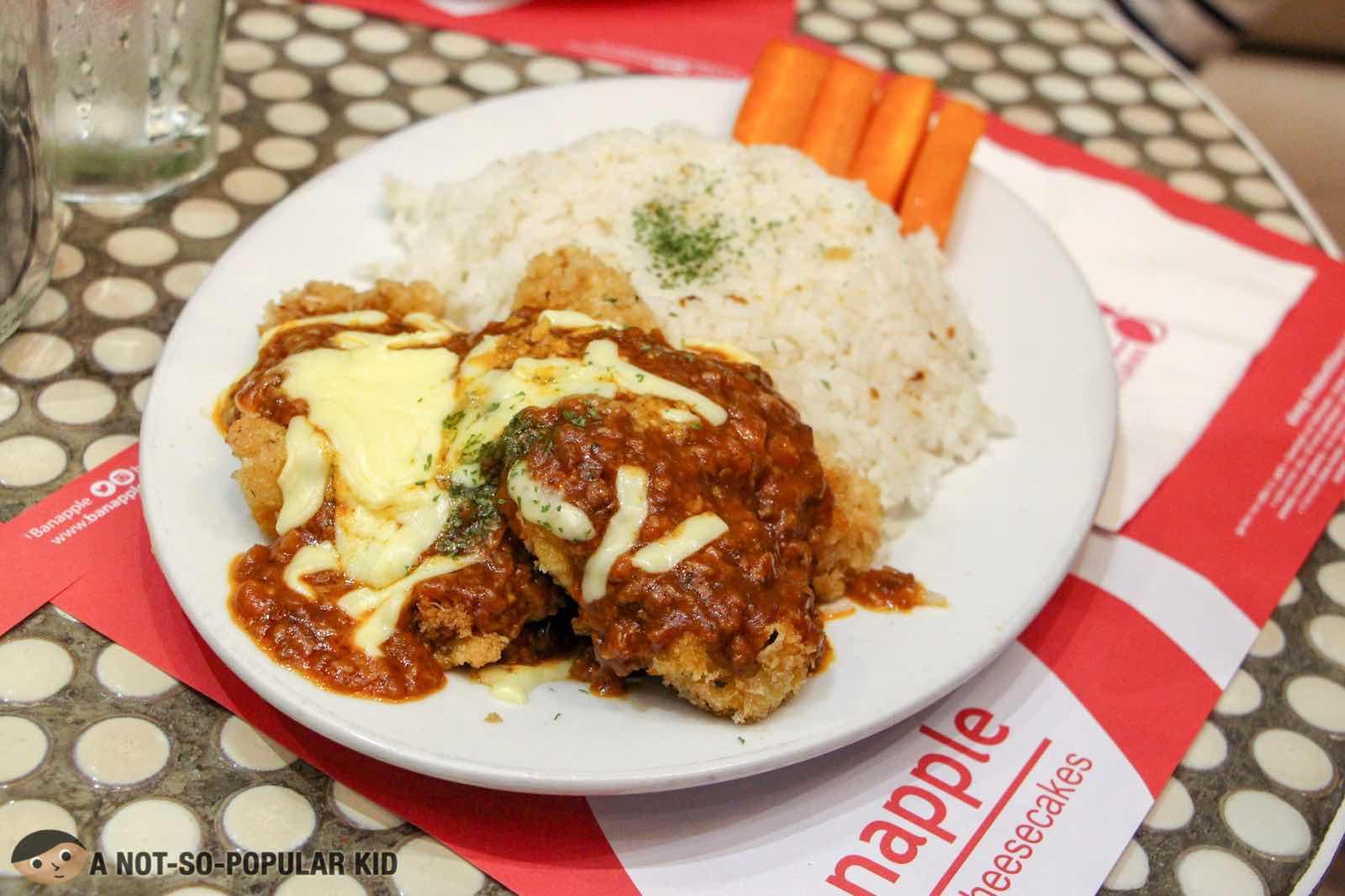 Chicken Parmigiano of Banappple