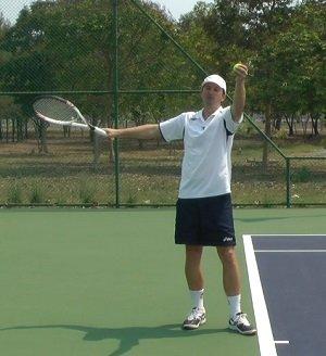 Tennis serve toss