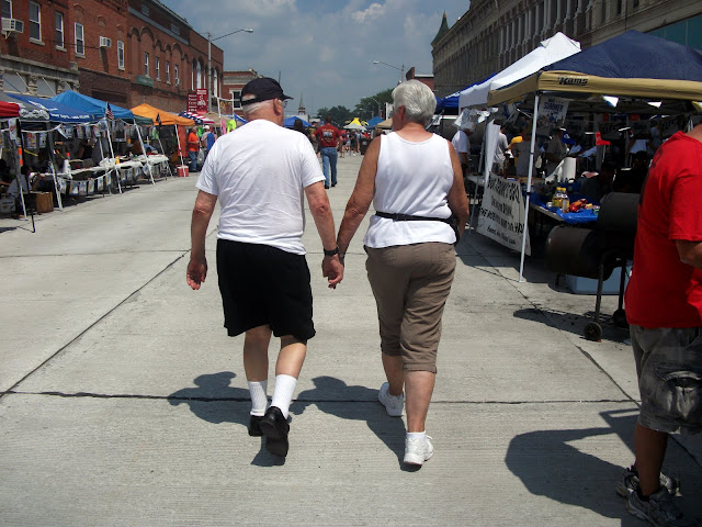 Older Couple Holding Hands