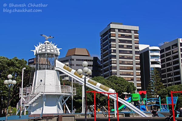 Children's play area at Frank Kitts Park at Wellington [New Zealand]