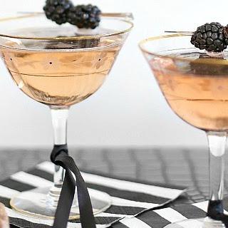 Blackberry Sparkler Cocktail.