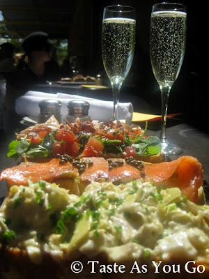 Bruschetta and Prosecco at Postino Arcadia in Phoenix, AZ - Photo by Michelle Judd of Taste As You Go